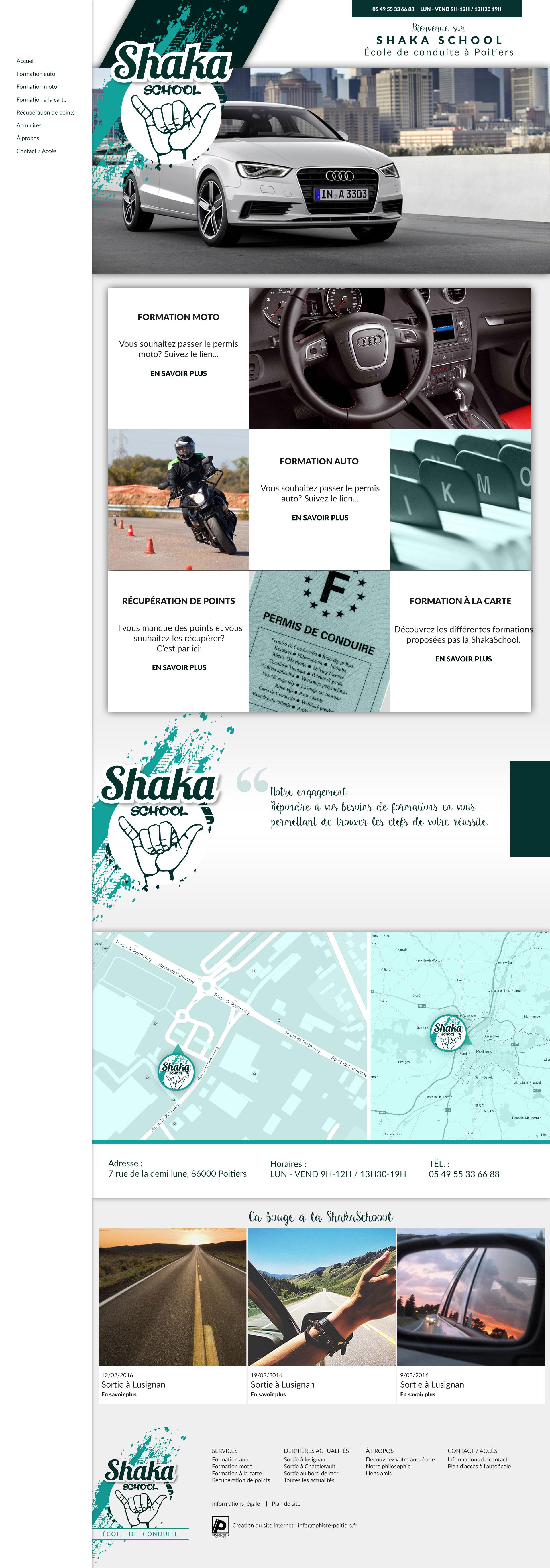 maquete du site internet shakaschool