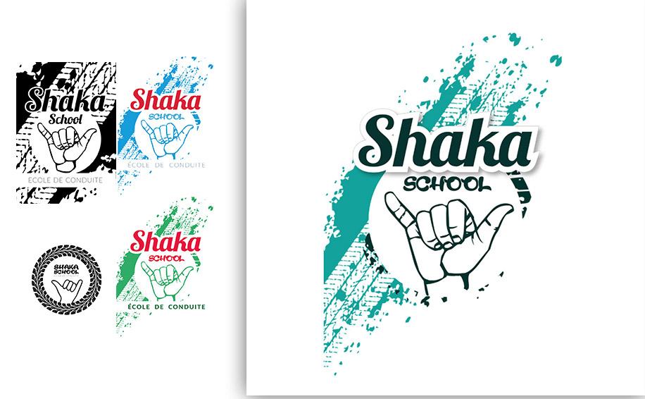 exemples de logos réalisé pour Shakaschool