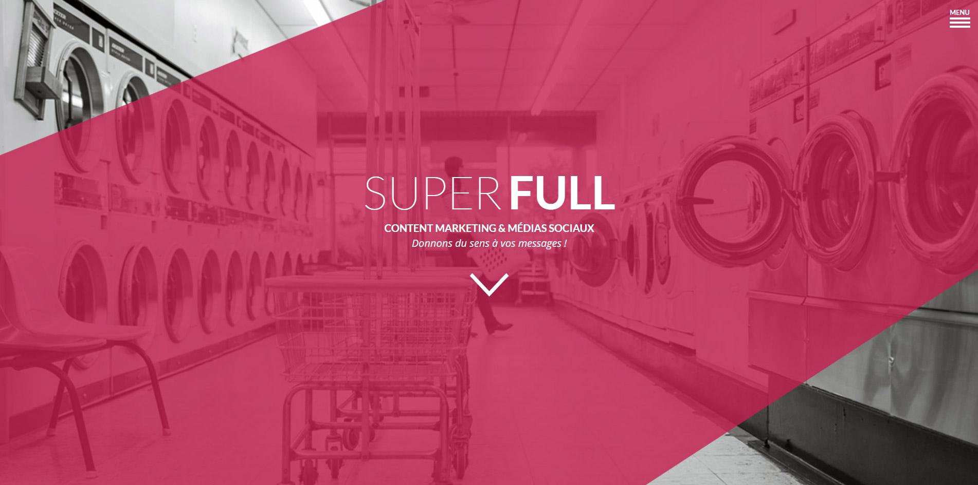 Création d'un site vitrine pour l'agence de communication Superfull