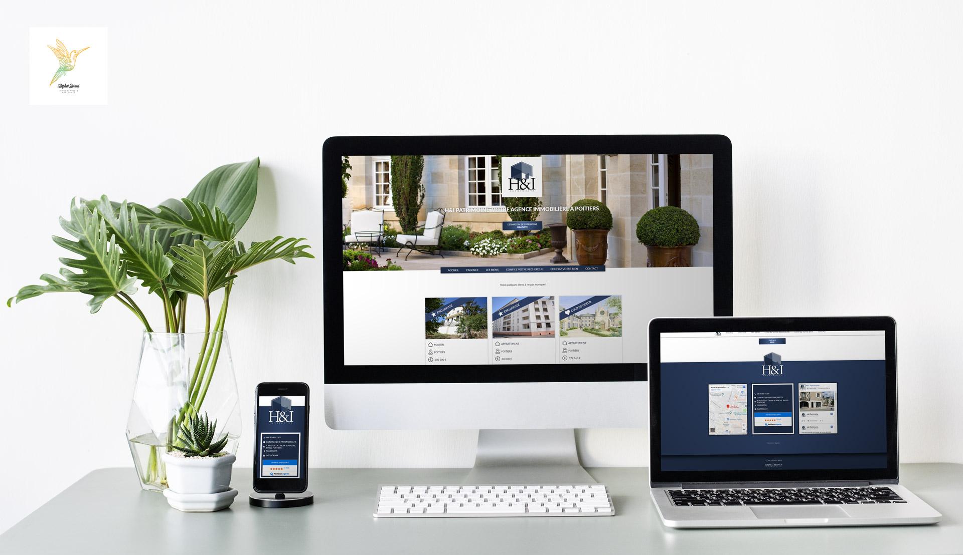 Création d'un site internet responsive pour l'agence immobiliere H&I patrimoine