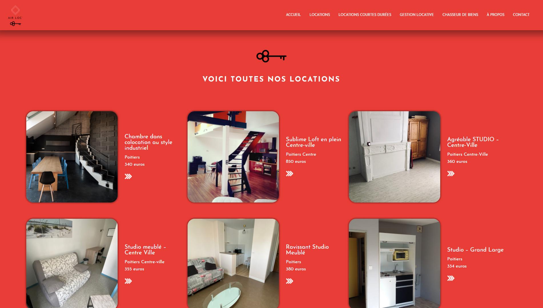 exemple de maquette de site internet responsive